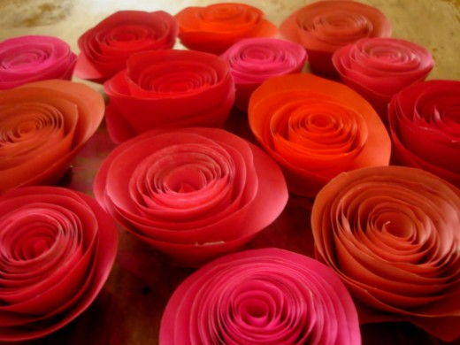 how to make real roses out of paper