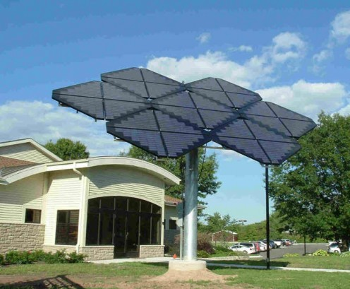 Solar panel array at Green Bay Botanical Gardens