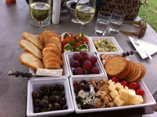 Our Cheese Tray for 2 that turned into an early Dinner!