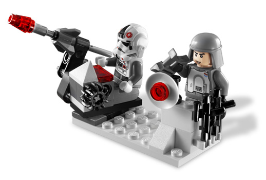 LEGO Star Wars 8084 Snowtrooper Battle Pack - Imperial Battle Station with flick-action missile launcher
