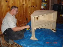 How To Build A Corner Tv Cabinet
