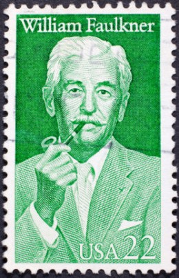 Faulkner's very own stamp.