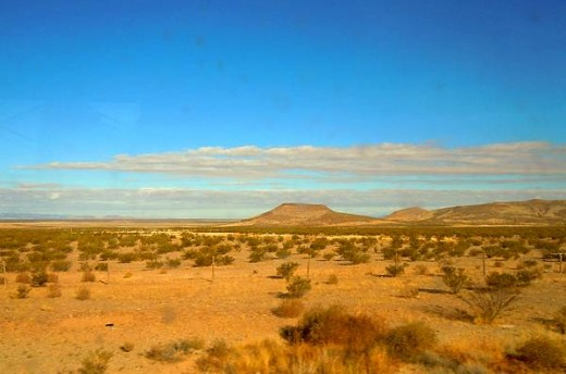 Typical Roadside Desert west of El Paso Texas
