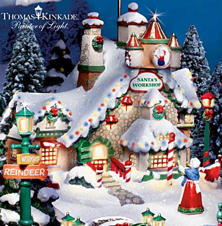"Kinkade Illuminated ""Santa's North Pole"" With Music and Motion"
