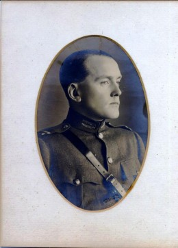 Gearoid O'Sullivan, Adjutant General, Irish Republican Army, circa 1920.