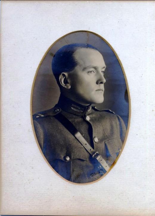 Gearoid O'Sullivan, Adjutant General, Irish Republican Army, circa 1920.