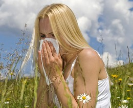 The hell of sinus allergies, when you just want to play in the flowers