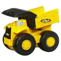 The Tonka Real Rugged Dump Truck is similar to other models; however, it has a more narrow body style with an updated appearance.
