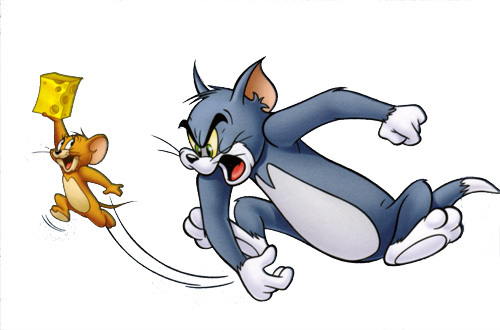Tom nearly missed Jerry