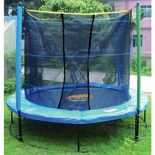 Buy a trampoline for your kids. Jumping on trampolines is great exercise. Parents can jump too for fun.