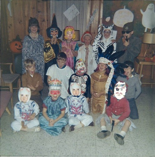 Halloween Party in 1967 at my childhood home in Minnesota. Can you guess where the twins are? Hee Hee