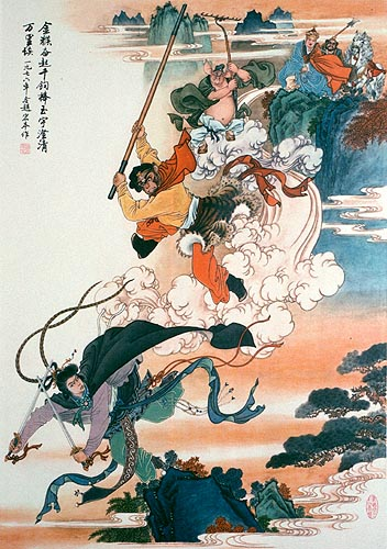Sun Wukong, known as the Monkey King, is a main character in the classical Chinese epic novel Journey to the West