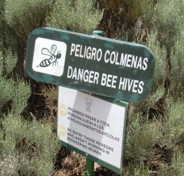 Warning for beehives