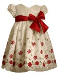 Baby girl christmas gift - Bonnie Baby Embroidered Organza Dress
