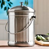 Stainless Steel Kitchen Compost Crock