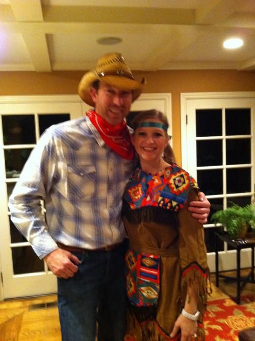 Dressed up in Shady Brady cowboy hat