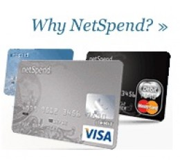Blue Black or Silve NetSpend Visa Prepaid Card