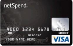 Netspends Prepaid Visa Card Black