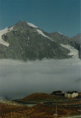 Grosse Wiesbachhorn from the Gross Glockner Alpine Road.