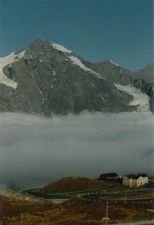 Grosse Wiesbachhorn from the Gross Glockner Alpine Road.