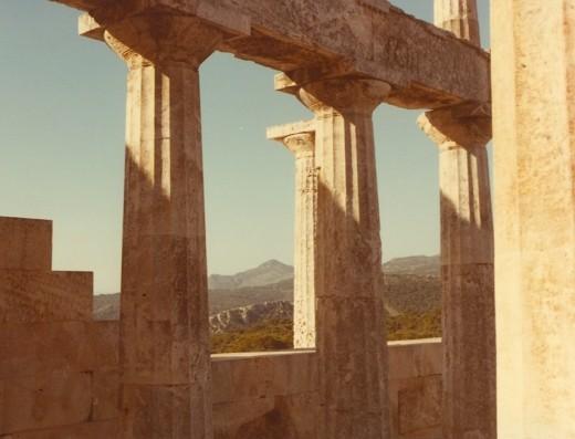 Temple oif Aphaea, Aegina, Greece.