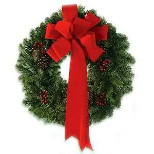 Simple yet beautiful wreath from thisnext.com