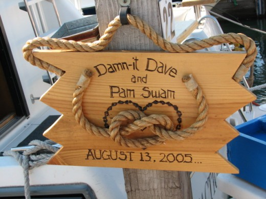 It Hangs At The Entrance To Their Boat Slip