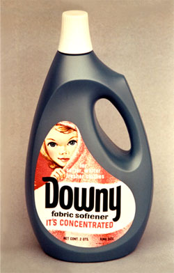 photo of bottle of Downy laundry soap designed by Roger Sweet