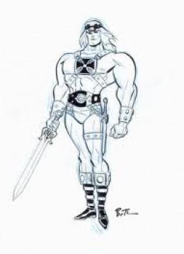 He-Man pen drawing