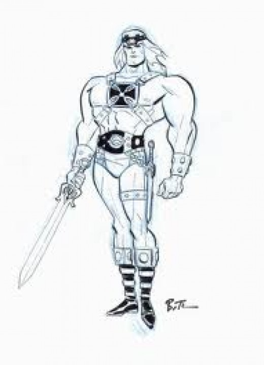 He-Man pen drawing