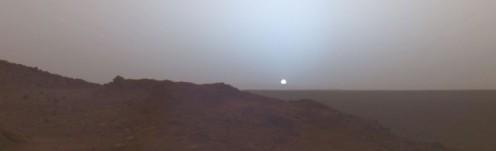 Mars at sunset