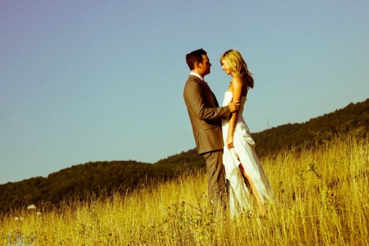 Photojournalistic or Lifestyle Bride and Groom Portrait