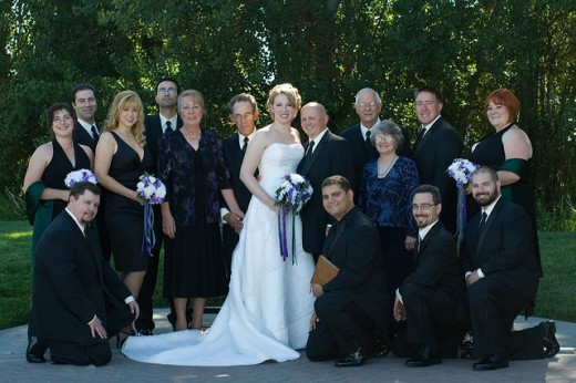 Formal Wedding Party Photo