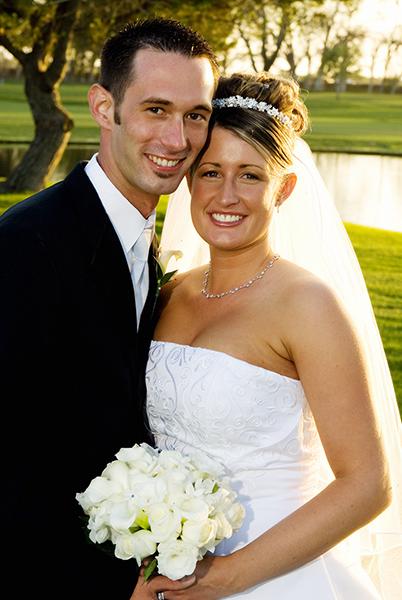 Formal Bride and Groom Portrait