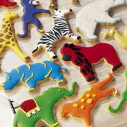 gorgeous cookies. Use Christmas cookie cutters instead of animals.