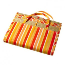 Sunny Striped Tri-fold Beach/picnic Mat