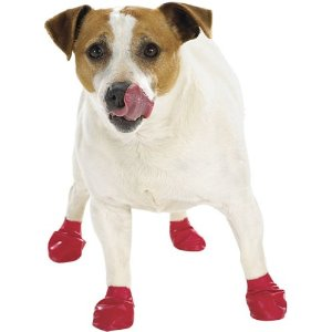 PAWZ Disposable Reusable Boots - 12 Pack Medium in Navy Blue