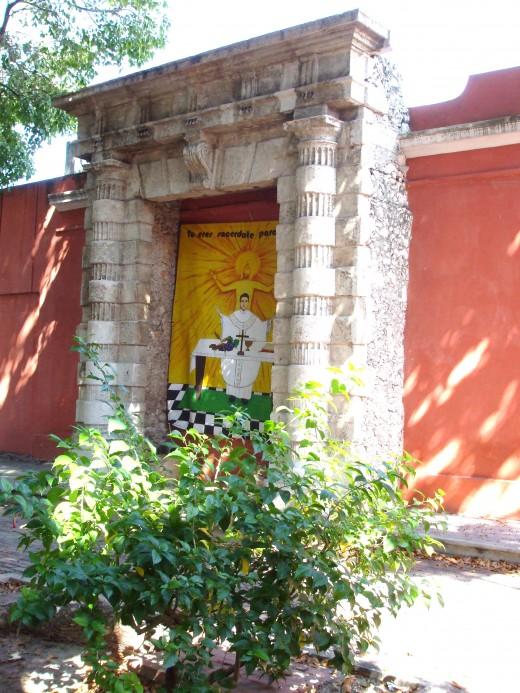 Courtyard of Santa Lucia R.C. Church, Merida, Mexico