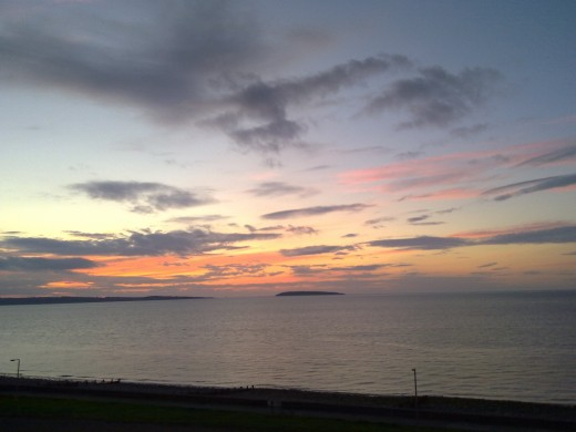 View of Puffin Island from my flat