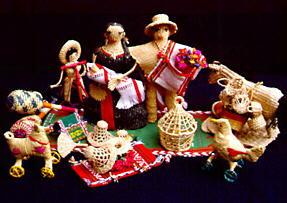 Nativity scene made with clay.