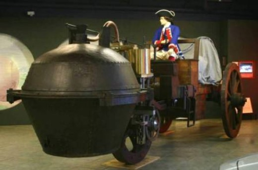 Replica Of 1769 Steam Powered Vehicle