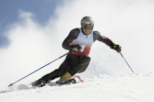 Every type of skier wears a ski goggle.