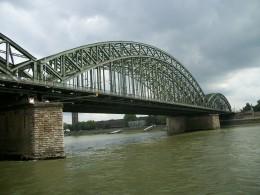 Road & rail bridge over Rhien River Cologne