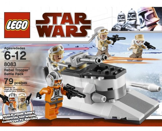 LEGO Star Wars 8083 Rebel Trooper Battle Pack box closeup