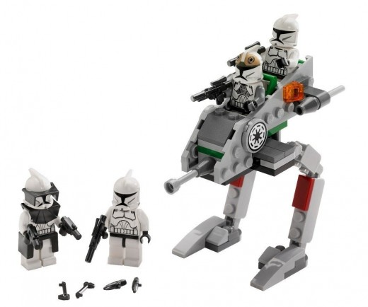 LEGO Star Wars 8014 Clone Walker Battle Pack - Set contents