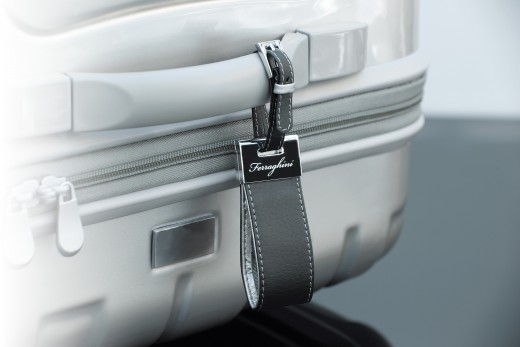Ferraghini First Class Luggage Tag. The Ultimate in Luxury and Discreet Too with the High Quality Silver and Leather - James Bond Would Be Seen with This Luggage Tag