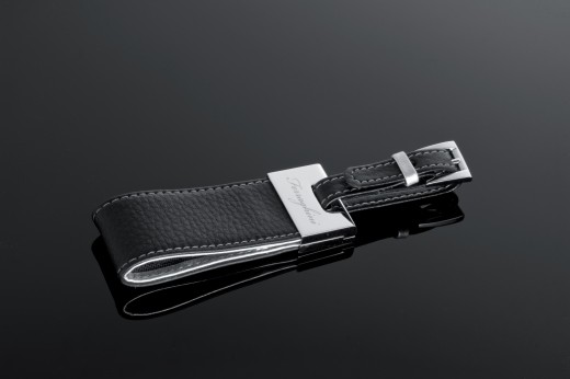 Elegant and Yet Masculine Luggage Tag - Silver and Leather