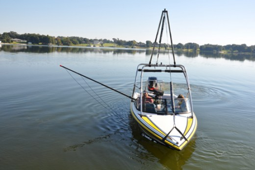 Universal Wakeboard Tower Can Pull Tubes or Anything Else Your Boat Can Pull out of the water!