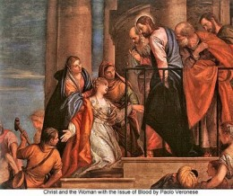 Christ and the Woman with the Issue of Blood. Paolo Veronese