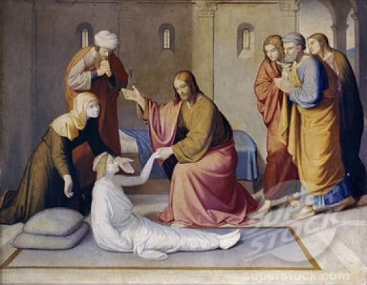 Raising of Jairus' daughter. Johann Friedrich Overbeck.